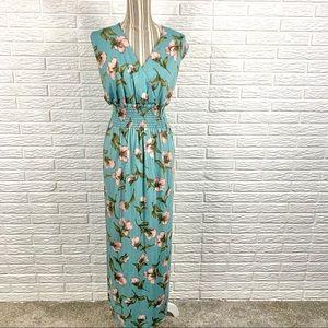 Jon & Anna Floral Empire Waist Maxi Dress